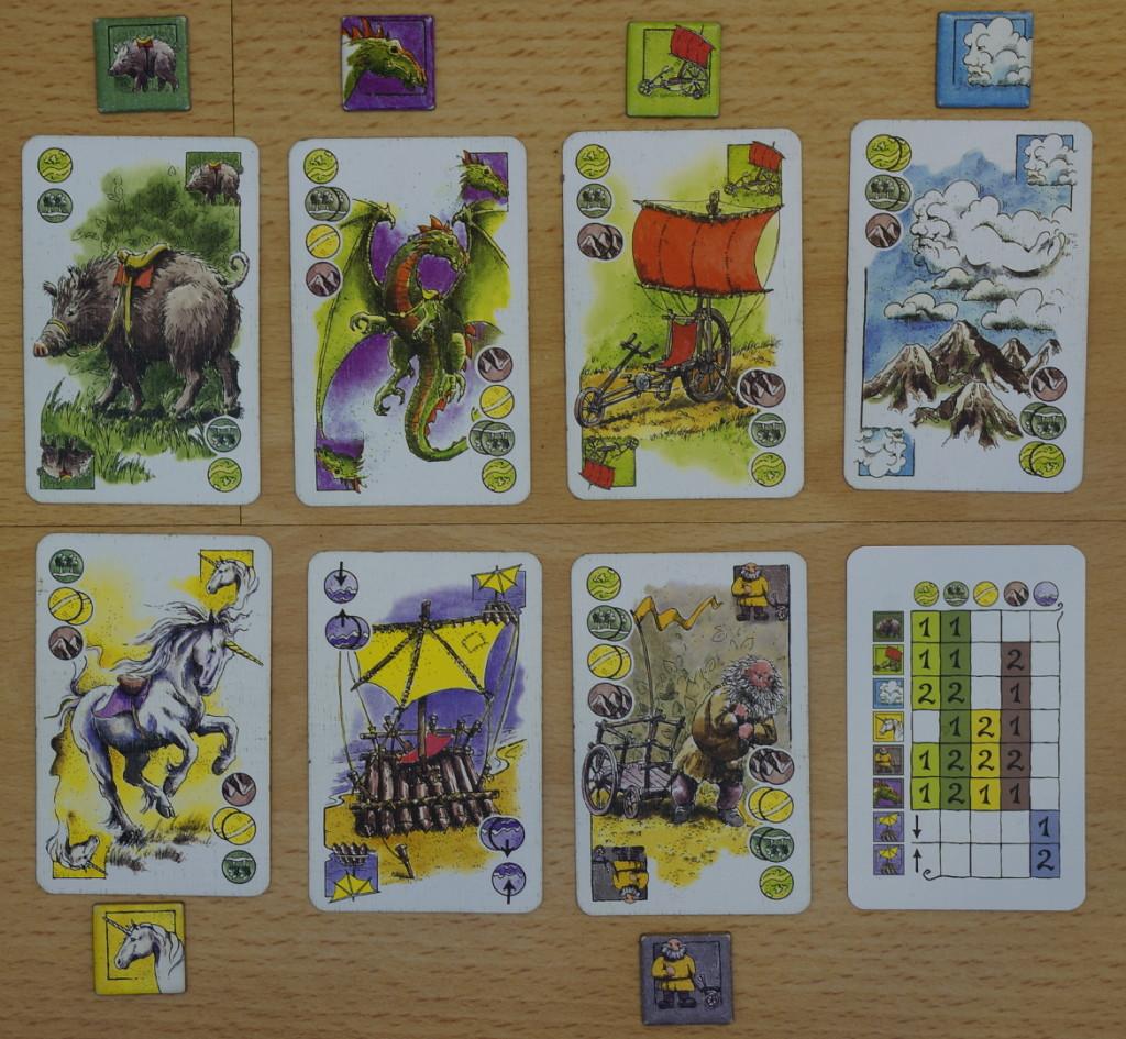 Karten vom Spiel Elfenland