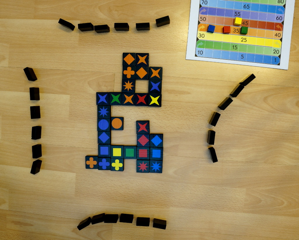 Qwirkle Beispielspiel mit 4 Spielern